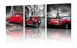NAN Wind 3 Pcs Modern Giclee Canvas Prints Paris Black and W