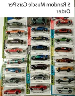 Hot Wheels Muscle Car Madness 5 Pack Random Diecast Bundle S
