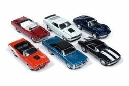 JOHNNY LIGHTNING MUSCLE CARS USA 2018 RELEASE 4 SET A BOX OF