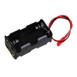 Mxfans N10005 Black Plastic Metal Battery Box Container Stor