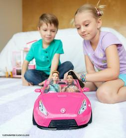 new barbie glam convertible car pink doll