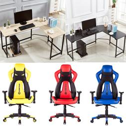 High Back Racing Car Style Office Gaming Chair or L-Shape Co