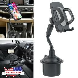 New Universal Adjustable Car Mount Gooseneck Cup Holder Crad
