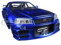 Jada Nissan Skyline GT-R R34 Brian's Blue Fast and Furious 1