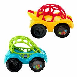 O Ball 1-Piece Rattle Roll Car, Assorted Colors
