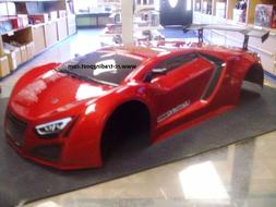 Painted Red Supercar Body For Redcat 1/10 RC Touring/Drift C