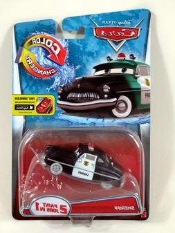 PIXAR CARS COLOR CHANGERS 2 PAINT JOBS IN 1 SHERIFF DIE-CAST