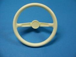 Plastic Steering Wheel for AMF Pedal Cars In White