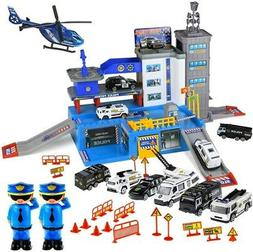 Police Station Parking Lot Car Toys for Boys Matchbox Cars P