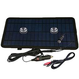 NUZAMAS 8.5W 12V Power Solar Panel Battery Charger For Car S