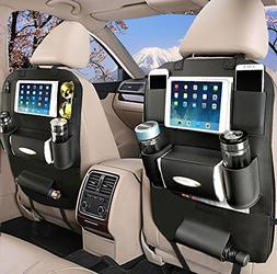 OTCPP 2 Pack PU Leather Car Seat Back Organizer for Travel