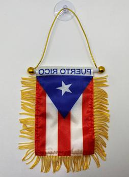 Puerto Rico Mini Banner Flag For Car & Home Window's Mirror