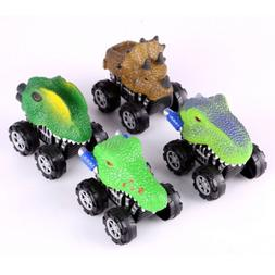 Pull Back Car 4pcs Dinosaur Toy Car Model Vehicle Kids Plays