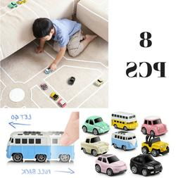 GEYIIE Pull Back Cars Alloy Vehicles Set Mini Car Model Cons
