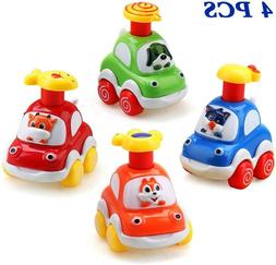 Amy & Benton Toy Cars for 1 Year Old Boy Pull Back Cars for