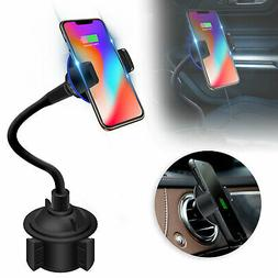 Qi Wireless Car Charger Charging Pad Holder Mount For iPhone