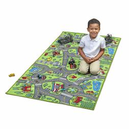 Race Car Track Rug Play Mat For Toddlers Kids Carpet Road To