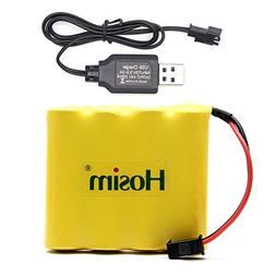 Hosim Rechargeable NiCad Battery and USB Charger for RC Craw