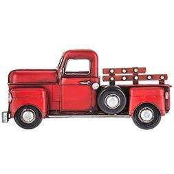 Red Half Truck Metal Wall Decor