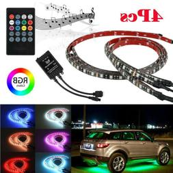 RGB 48 LED Strip Under Car Tube Underglow Underbody System 4