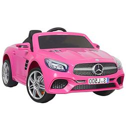 Uenjoy 12V Licensed Mercedes-Benz SL500 Kids Ride On Car Sin