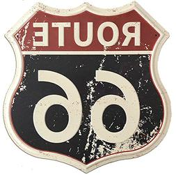 SUDAGEN Route 66 Signs Vintage Road Signs with Polygon Metal