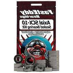 FastEddy Bearings Sealed Bearing Kit For Axial SCX10 RC Car