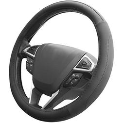 SEG Direct Black Microfiber Leather Auto Car Steering Wheel