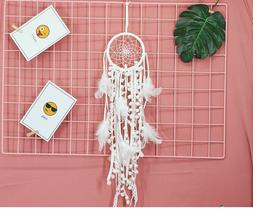 Small White dream catcher for car, kids bedroom decoration,