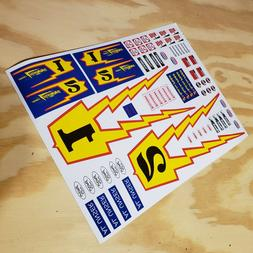 Stickers for Topper Johnny Lightning Car Carrying Trophy Uns