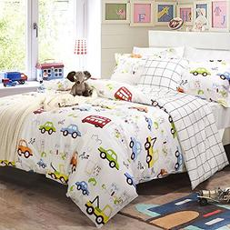 Toddler Bedding Sets for Boys Cars Vehicles Duvet Cover Set