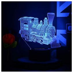Toy Train Night Light for Kids LED Table Lamp 3D Illusion Op