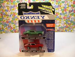 TWO YENKO CAR SET CAMARO AND VEGA JOHNNY LIGHTNING 1:64 SCAL