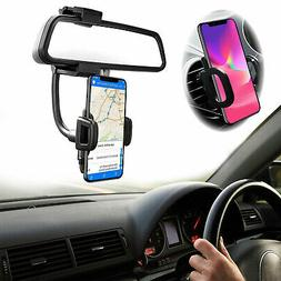 2in1 Car Air Vent Holder +Rearview Mirror Mount Stand Cradle