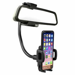 Universal 360° Car Rear View Mirror Mount Stand Holder Crad