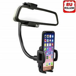 Universal 360° Car Rearview Mirror Mount Stand Holder Cradl