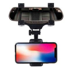 Universal Car Rear-view Mirror Mount Holder For IPhone Samsu