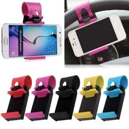 Universal Car Steering Wheel Cradle Stand Cell Phone Mount H