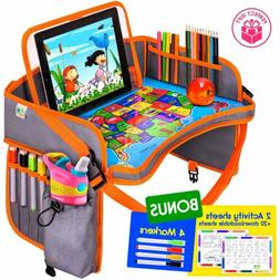 Baby Car Seat Travel Play Tray - Kids Activity Tray Table -