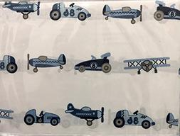 Vintage Cars and Planes Boys 4 Piece FULL Sheet Set by Froli