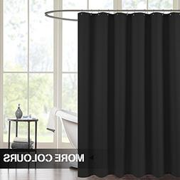 Waterproof Shower Curtains for Bathroom Antibacterial Black