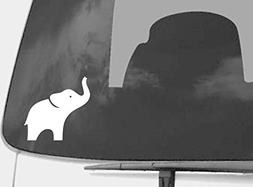 White Elephant Car Decal - Macbook Decal - Removable Vinyl S
