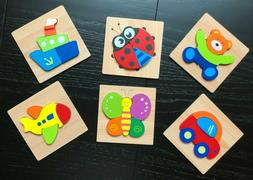 Wooden Jigsaw Puzzles For Toddlers Kids Montessori Toys 1 2
